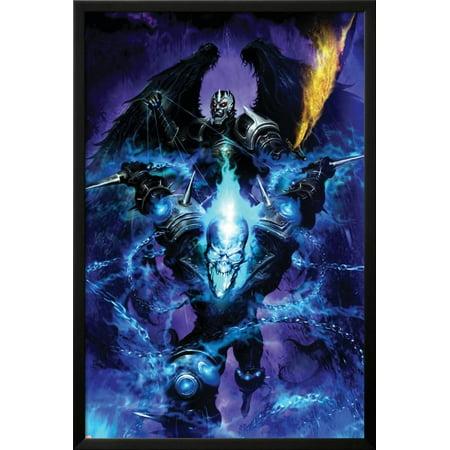 Ghost Rider: Danny Ketch No.5 Cover: Ghost Rider Lamina Framed Poster Wall Art  - 26x38 ()