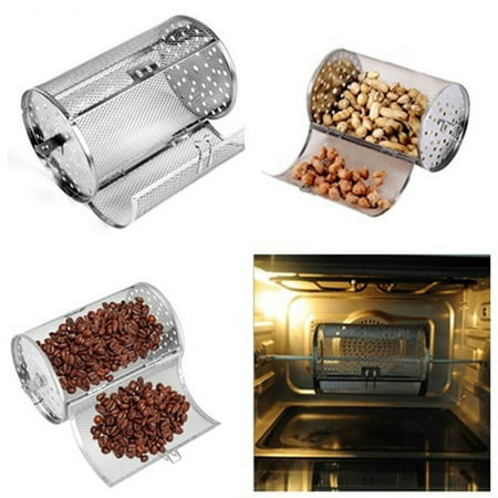 Coffee Beans & Nuts Rotisserie Grill Roaster Drum Oven Stainless Steel Basket - image 1 of 5