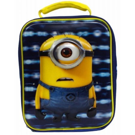 Minion Lunch Box (Despicable Me Minions Lunch Box - Lights Up! Insulated Compartment 3D)