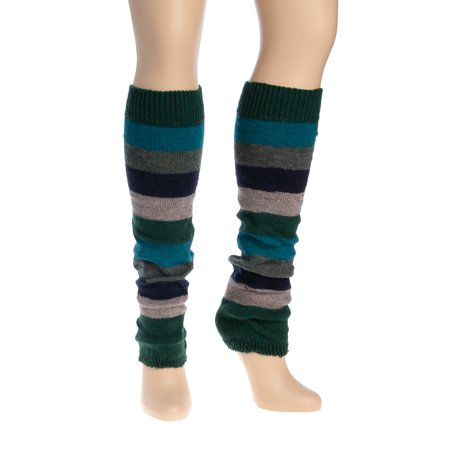 Women Colorful Striped Winter Leg Warmers Soft Thermal Thick Ladies Legging - Leg Warmers Striped