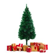 Jaxpety 5Ft Christmas Tree Artificial Unlit Premium Pine Hinged Tree with Stand Holiday Festival Decor Indoor & Outdoor