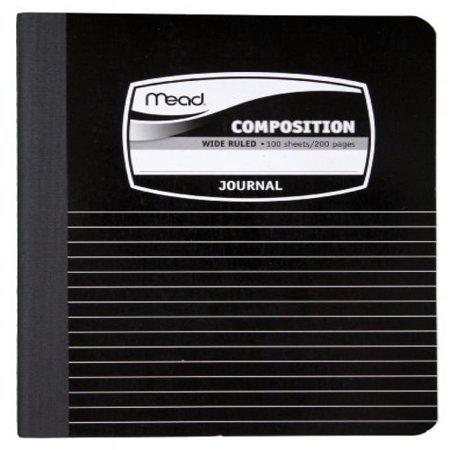 Vb Notebooks - Mead Composition Book, Special Ruled, 9-3/4 x 7-1/2 Inches, Black Marble (9920)