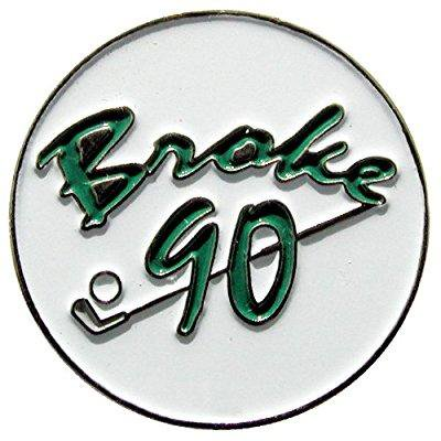 broke 90 ball marker with magnetic hat clip