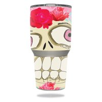 Skin For YETI 30 oz Tumbler - Happy Sugar Skull | MightySkins Protective, Durable, and Unique Vinyl Decal wrap cover | Easy To Apply, Remove, and Change Styles