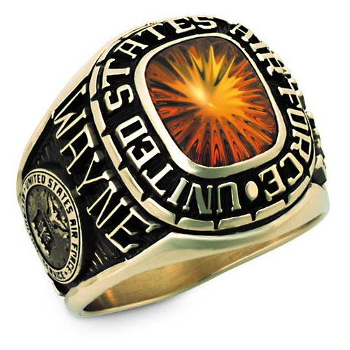 Keystone Men's Personalized Apollo Military Ring, All Branches Available