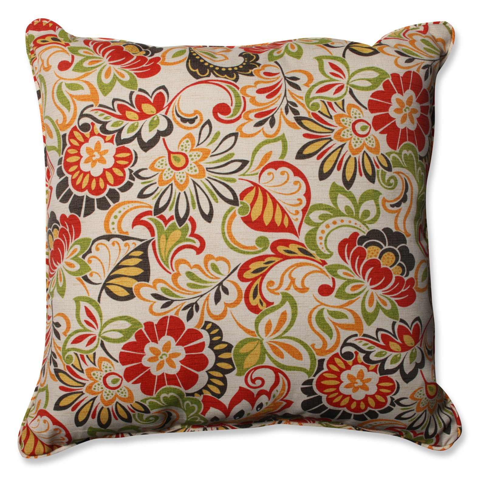 Pillow Perfect Zoe Citrus Indoor/Outdoor 25 in. Floor Pillow