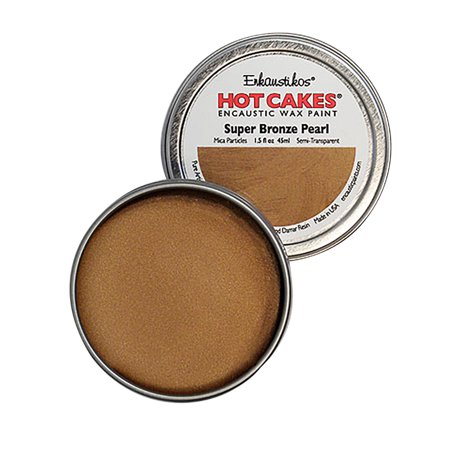 Enkaustikos Hot Cake Encaustic Wax Paint, 1.5 oz. Tin, Super Bronze
