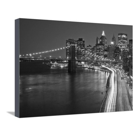 Brooklyn Bridge and Parkway, East River with Lower Manhattan Skyline, Brooklyn, New York, Usa Stretched Canvas Print Wall Art By Paul (Accident On Hutchinson River Parkway 9 13 12)