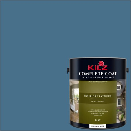 KILZ COMPLETE COAT Interior/Exterior Paint & Primer in One #RD100-01 Marine Bay](Tf2 Halloween Paint)