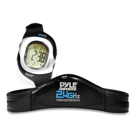 PYLE-SPORT PSWHRL34 - 2.4GHz Ladies Heart Rate Monitor W/ Coded Heart Rate Transmission, 4 Heart Rate Zones, Calorie & Fat Burned, 50 Lap Chronograph Memory, SOS