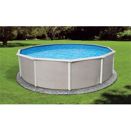 Belize 12 Round 52 Steel Pool with 6 Top Rail (Above Ground Pool Top Rail Replacement Parts)