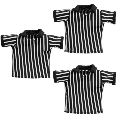 Set of 3 Cloth Referee Shirts for WWE Wrestling Action Figures (Wwe Wrestling Party Supplies)