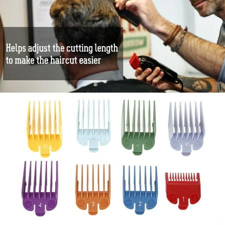 Ejoyous 8 tailles Color Limit Peigne Tondeuse Guide de Coupe de Cheveux Guide de Coupe Attachement, Peigne Taille, Peigne Limite de Cheveux, Peigne Taille - image 7 de 8