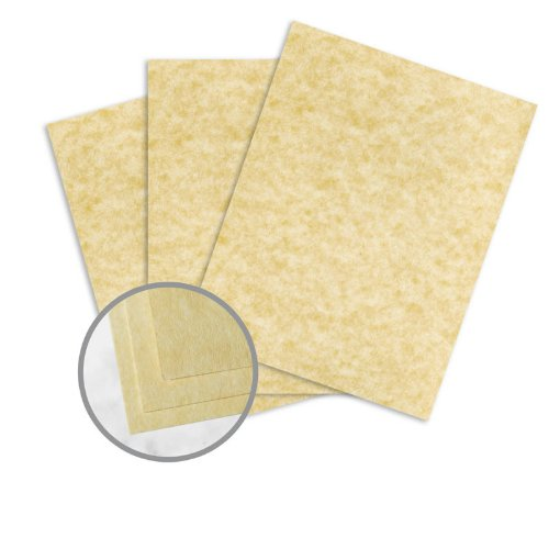 Astroparche Ancient Gold Paper - 8 1/2 x 11 in 60 lb Text Vellum 30% Recycled 500 per Ream
