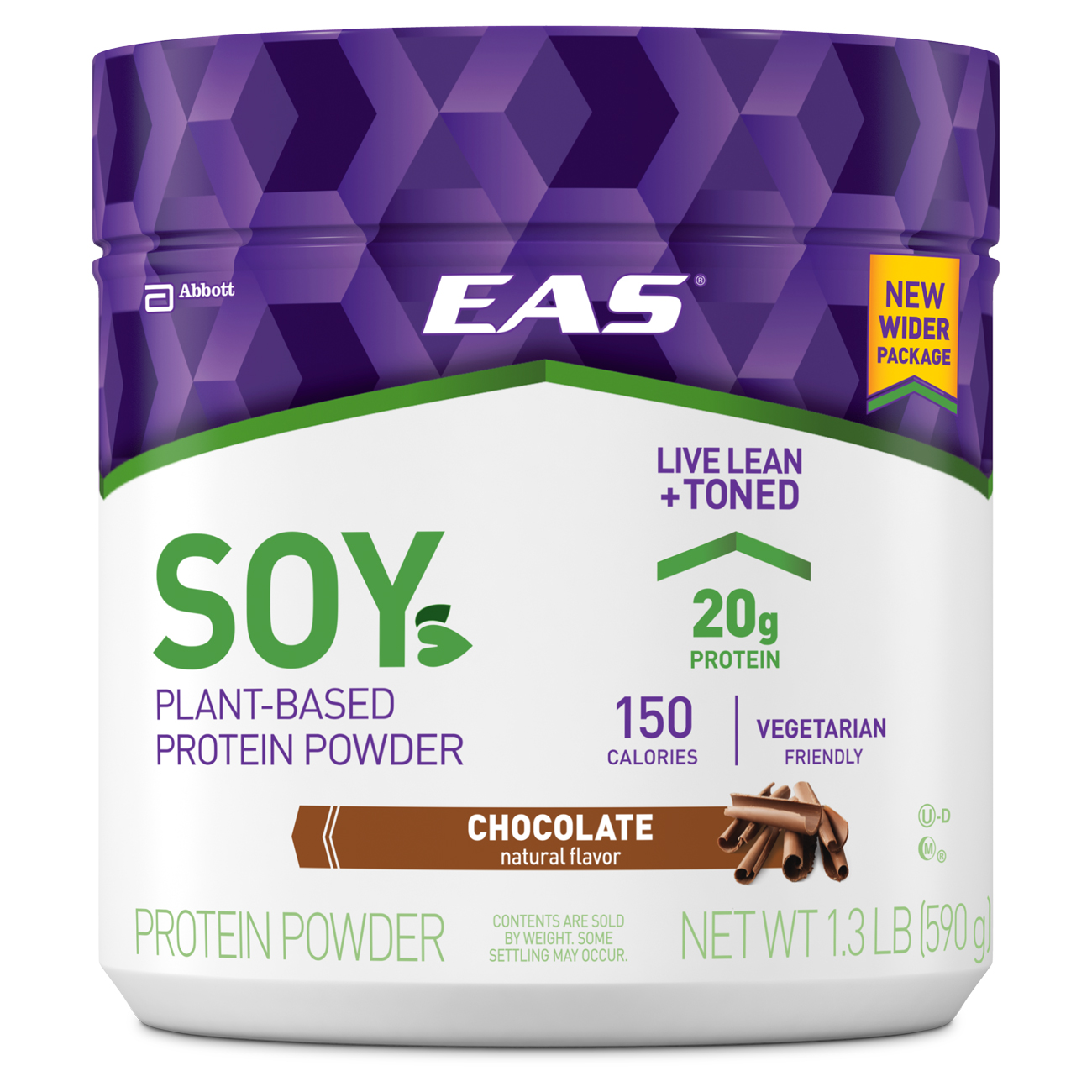 Eas Soy Protein Powder, Chocolate, 1.3 Lb, 14 Servings