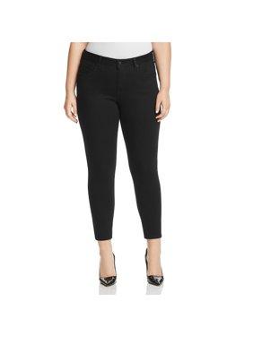 Lucky Brand Womens Plus Curvy Mid-Rise Skinny Jeans Black 24W