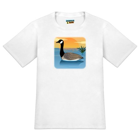 Canadian Goose Geese Swimming Canada Men's Novelty T-Shirt Canadian Goose Clothing