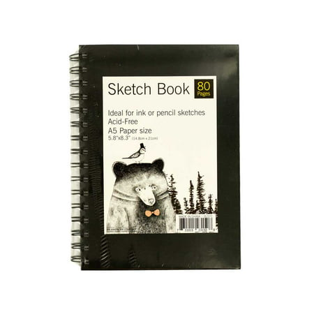 Wire Bound Sketch Book 80 Pages A5 Paper Acid-Free 5.8