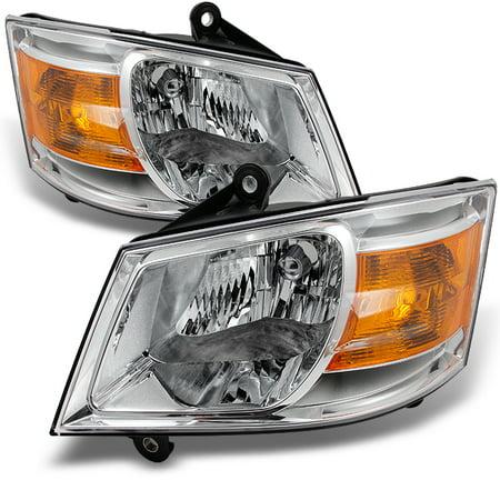 Dodge Caravan Headlight Assembly (Fit 08-10 Dodge Grand Caravan Clear Replacement Left + Right Side Headlight Pair)