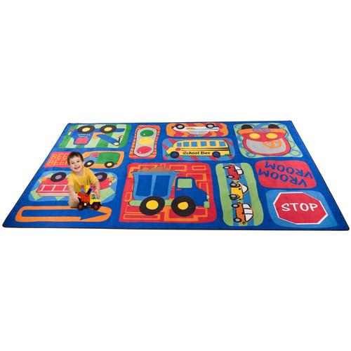 Kid Carpet Vroom Vroom Car Play Area Rug