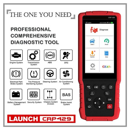 Launch CRP429 OBD2 Diagnostic Scan Tool with Full System Diagnoses and Special Service Functions of Oil Reset EPB/BMS/SAS/DPF ABS Bleeding Injector Coding and