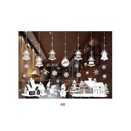 Window Clings Decal Stickers Christmas Winter Wonderland Decorations Ornaments Party Supplies