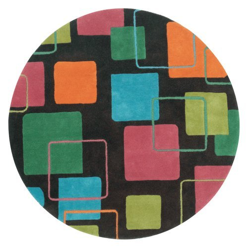 Round Area Rug in Charcoal (3 ft. Dia. (15 lbs.))
