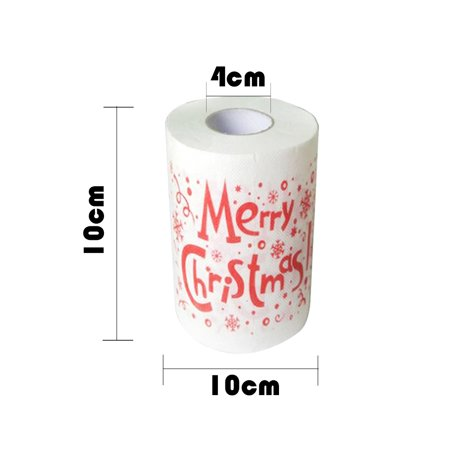 Christmas Printing Paper Toilet Tissues Novelty Roll Paper for Christmas Decoration - image 4 of 7