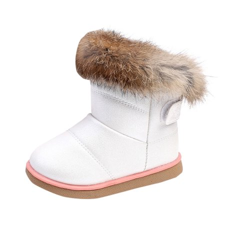 Cotton Winter Baby Boys Girls Child Leather Shoes Martin Boot Warm Shoes HOT - Hot Girls Boots