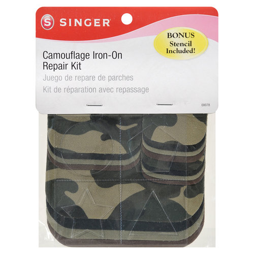 Singer Camouflage Iron-On Patch Kit