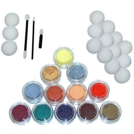 12 Couleur 10ml Peinture Face Set  Kit secondaire