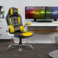 Merax Racing Style Gaming Chair Ergonomic High-Back Reclining Office Chair, Yellow
