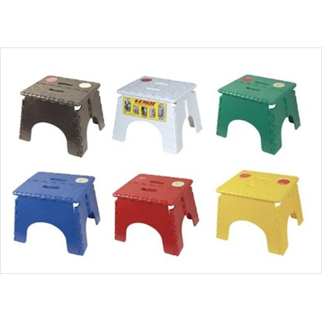 B&R PLASTICS 1016AS Foldz Step Stool, Pack- 6 by B&R Plastics