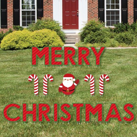 Merry Christmas - Yard Sign Outdoor Lawn Decorations - Christmas Yard - Lawn Sign