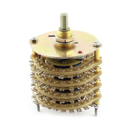 DIY Volume Control 4P23T 4 Pole 23 Throw 4 Wafers Selector Rotary Switch (Pyle Rotary Volume Control)