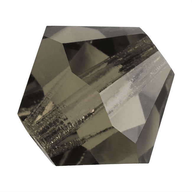 Czech Crystal Glass Beads 6mm Bicone 'Black Diamond' Blue (20)