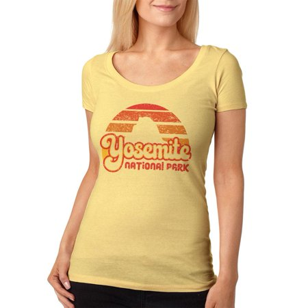 National Park Retro 70s Sunset Yosemite Womens Soft Scoop T Shirt](Womens 70s Clothes)