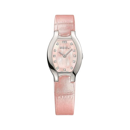 Ebel Women's Pink Leather Band Steel Case Anti Reflective Sapphire Swiss Quartz MOP Dial Watch 1216246 (Pink Sapphire Watch)