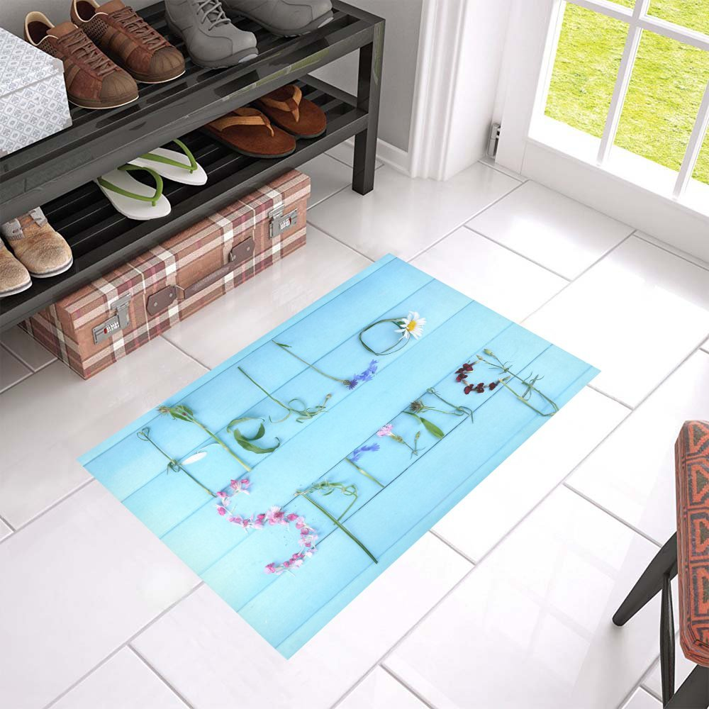 MKHERT Hello Spring Doormat Rug Home Decor Floor Mat Bath Mat 23.6x15.7 inch