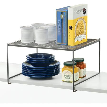 Lynk Kitchen Cabinet, Pantry and Closet Shelf Organizer - Extra Shelf - Platinum ()