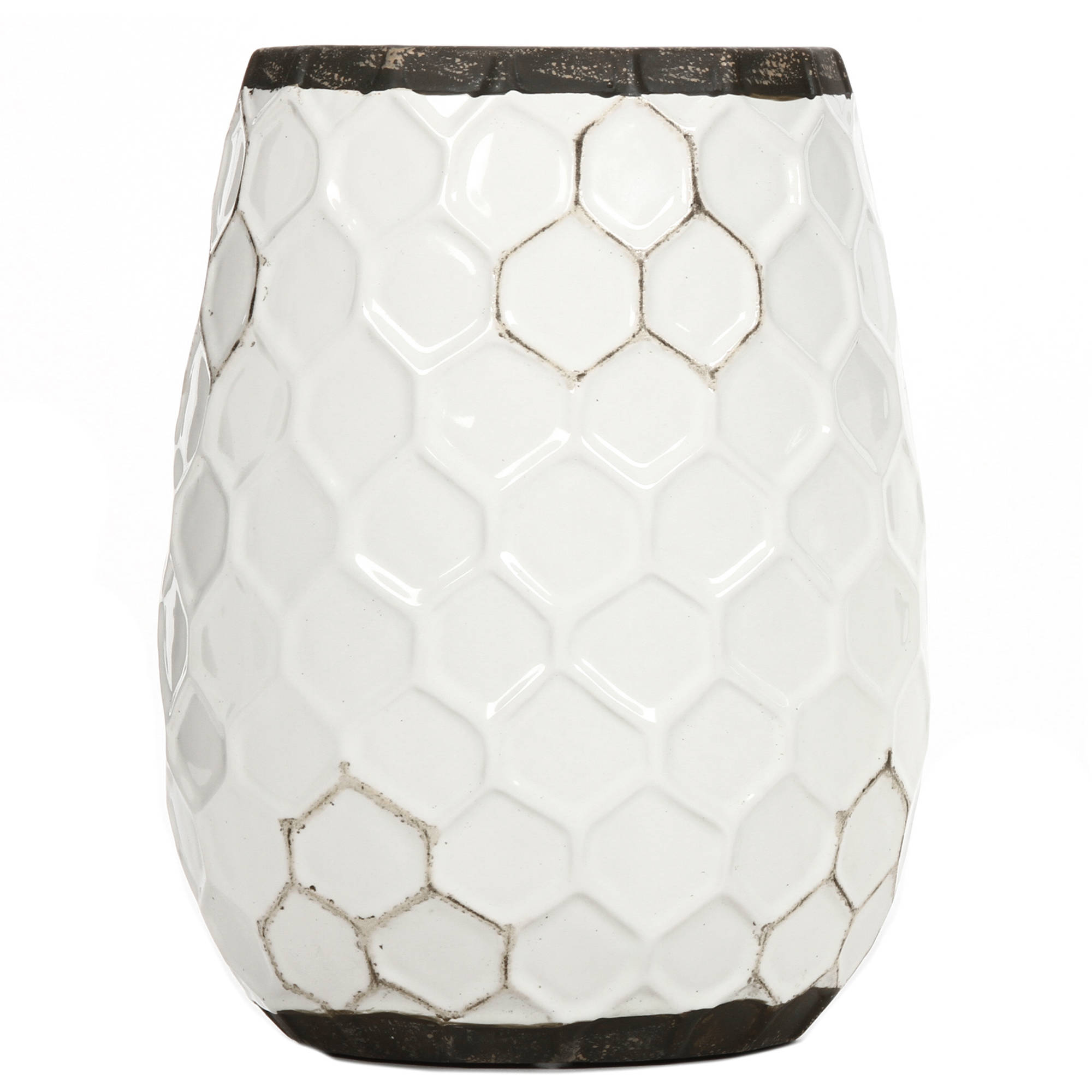 "Elegant Expressions Ceramic Honeycomb Vase, 7.5"" by"