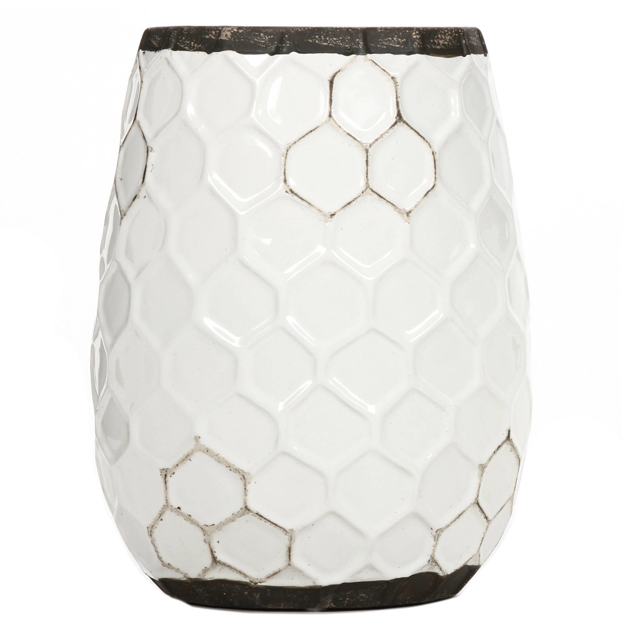 """Elegant Expressions Ceramic Honeycomb Vase, 7.5"""""""