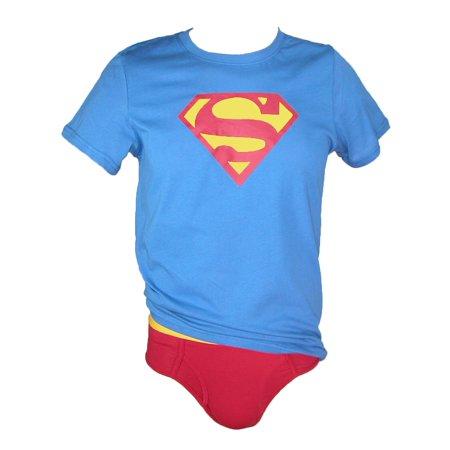 Men's Superman Tee Brief Set