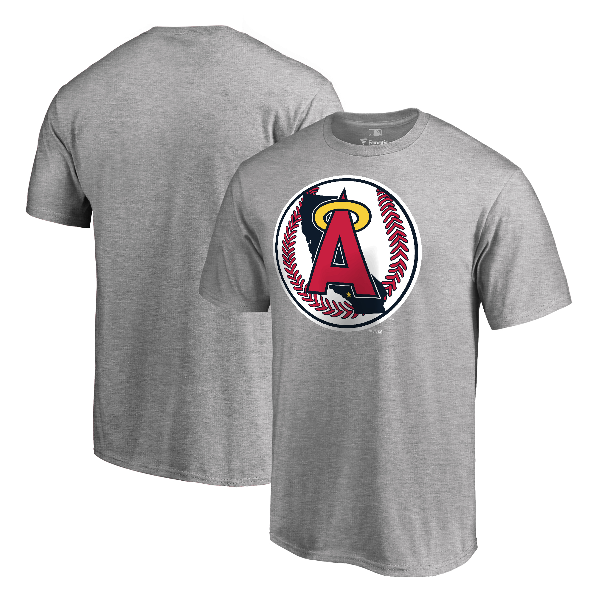 Los Angeles Angels Fanatics Branded Cooperstown Collection Forbes T-Shirt - Ash