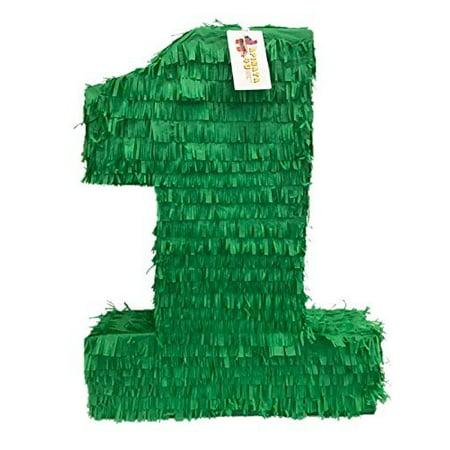 Large Pinatas (APINATA4U Large Solid Dark Green Number One Pinata)