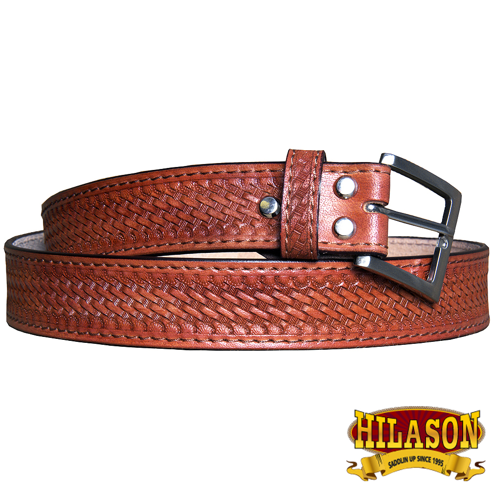 "32"" HILASON HANDMADE HEAVY DUTY CONCEALED CARRY LEATHER STITCH GUN HOLSTER BELT"