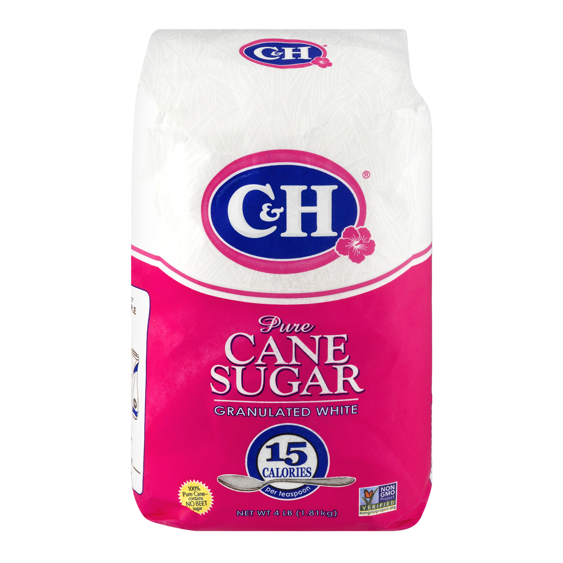 C & H Pure Granulated White Cane Sugar, 4 lb
