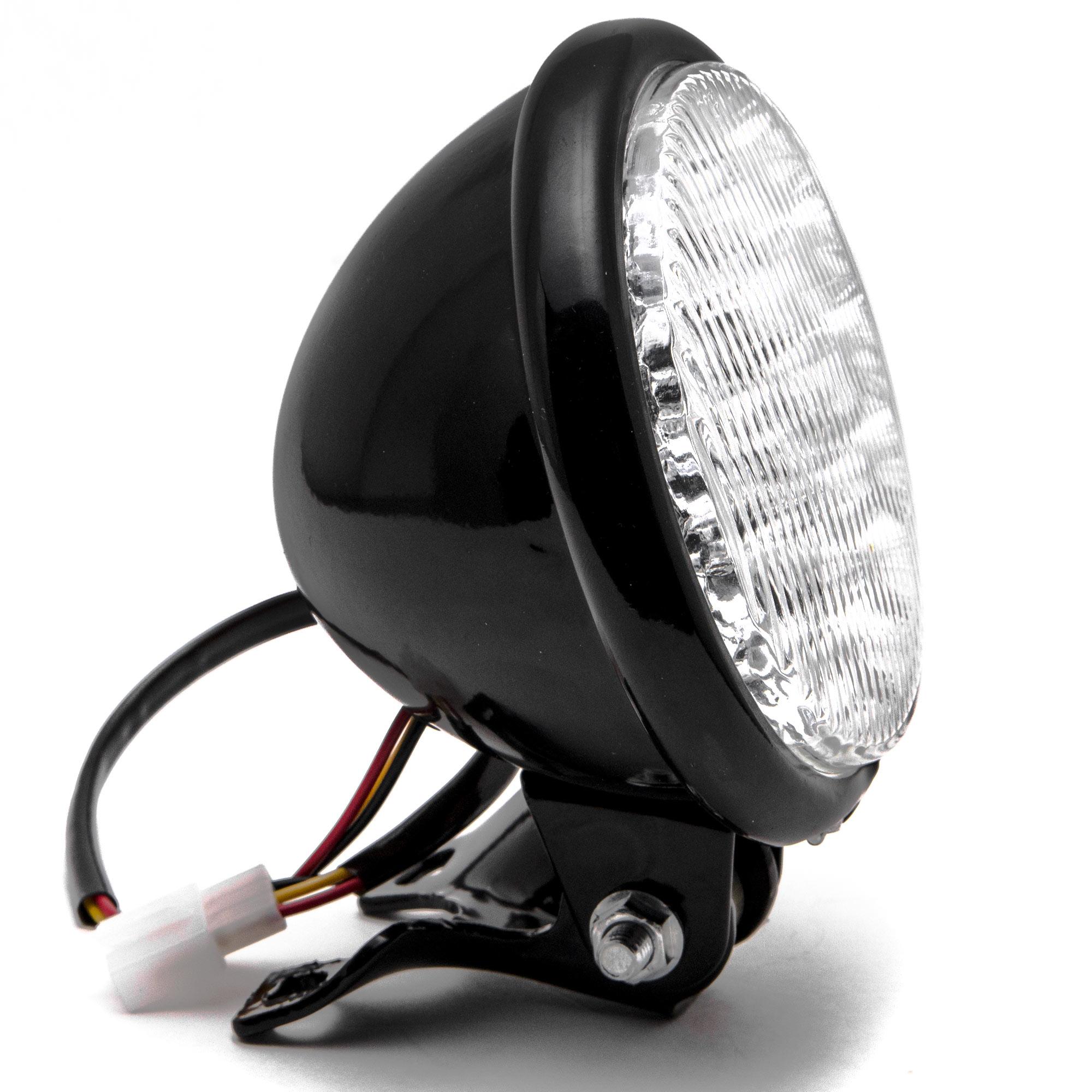"Krator 5"" Black LED Headlight with Light Mounting Bracket for Suzuki Boulevard S40 S50 S83 - image 3 of 7"