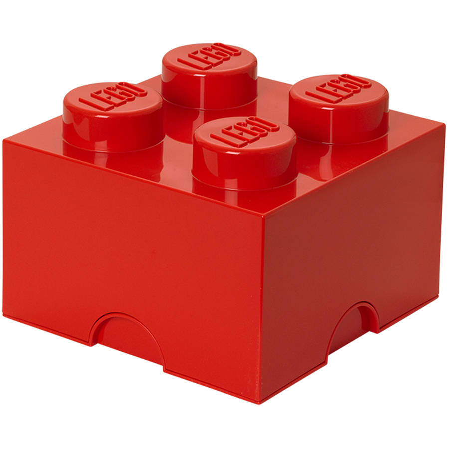 LEGO Storage Brick 4, Bright Red