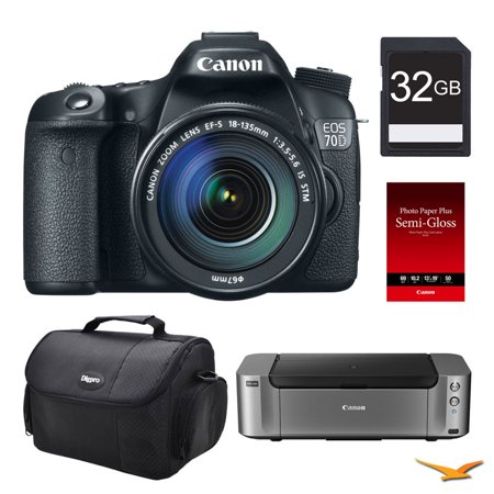 canon eos 70d 20 2 mp cmos digital slr camera bundle. Black Bedroom Furniture Sets. Home Design Ideas